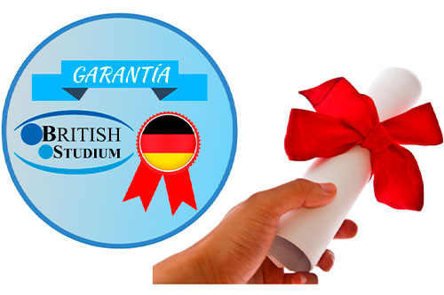 Certificado de Curso de Alemán